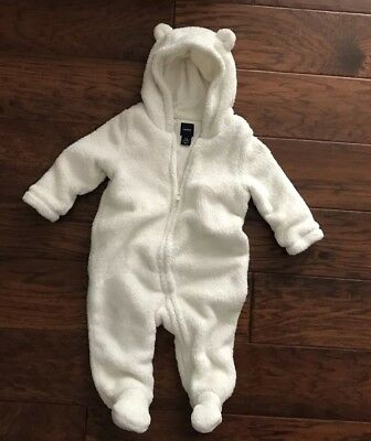 Baby GAP Size 6-12 Months Unisex Baby Bear Bunting One Piece Suit Outerwear Warm