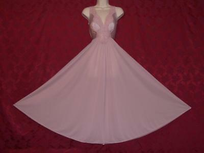 """Lovely Vtg  Olga Dusty Rose Formfit Nightgown  M-L Bust To 44"""""""