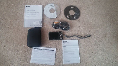 Nikon COOLPIX S3000 12.0MP Digital Camera - Black w/ case, adapter, and charger
