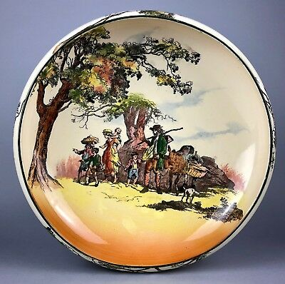 Royal Doulton -The Gleaners English Old Scenes- Large Seriesware Fruit Bowl 7562
