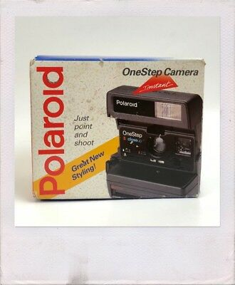 Polaroid One Step Close Up Camera 600 Film Instant TESTED w/ Box, Strap, Booklet