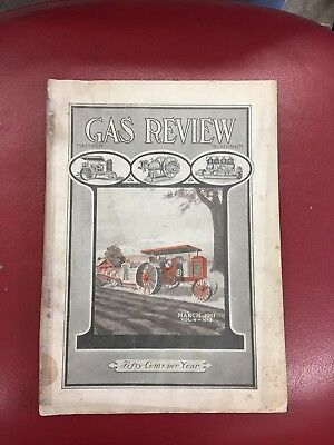 Nice Gas Review Magazine Antique Hit And Miss Gas Engine Literature