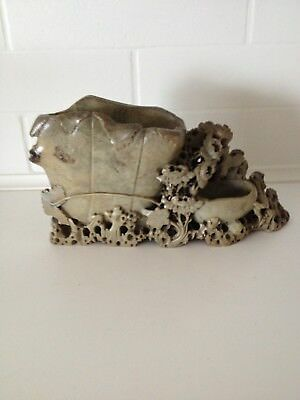 antique chinese soapstone carving, Early 20th century, part of a collection