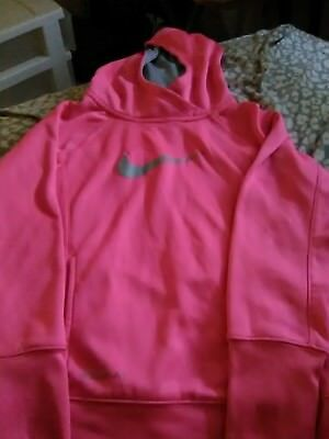Nike PINK Therma Fit Pullover Hoodie Youth Girls size M