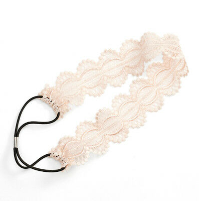 NWT - LC Lauren Conrad White Scalloped Laced Elastic Headband [MSRP $14]