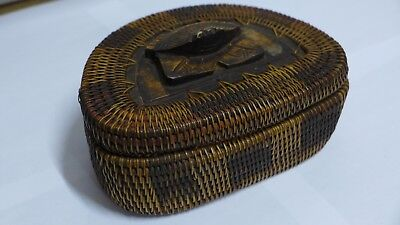 Indonesian / Balinese Handcrafted Wooden Carved Crab Lombok Container Box