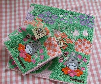 Japan Brand Totoro Mini Hand Towel one piece Floral Pink   edged