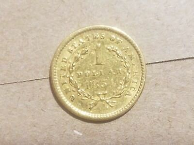 1851 Liberty Head Gold Dollar $1 Coin Type 1 EXTRA FINE EF XF !