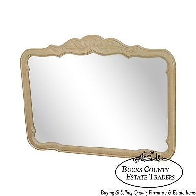 Drexel Cabernet Collection French Country Cerused White Washed Frame Mirror