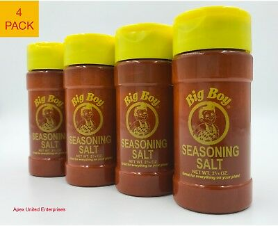 Bob's Big Boy Restaurant Seasoning Salt Authentic Original Fresh 4 Pack