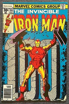 The Invincible Iron Man #100 Comic Book (1977) Free Ship on Additional!