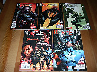 Ultimate Nightmare #1 2 3 4 5, VF/NM complete Limited Series, 2004, Wolverine