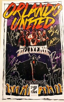 Autographed HELLYEAH and IN THIS MOMENT Poster. Proceeds Donated to Punk Talks