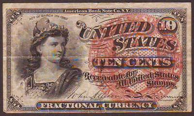 Fractional Currency 4th Issue  10 Cents