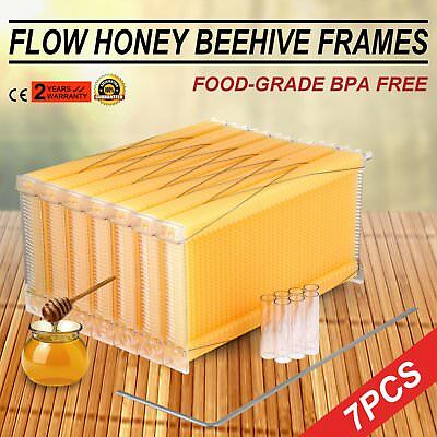 Beekeeping Supplies Auto-Flow Style Frames 7 Piece Honey Harvest Bee Hive Frame