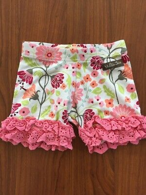 MATILDA JANE Happy Free Crystal Cove Pink Lace Floral Shorties Size 2