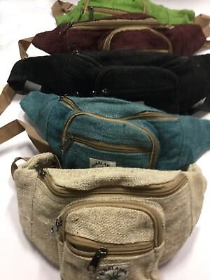 New Unisex Hemp festival Hippie boho  Money Belt-Bum Bag