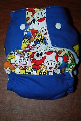 Mario Collage Fitted Hybrid One Size Diaper