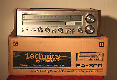 Technics Sa-300 Stereo Receiver W/original Box Sounds Great Vintage