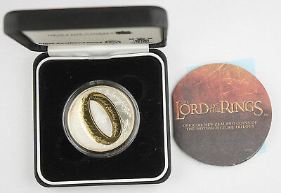 New Zealand 2003 Lord of the Rings $1 One Dollar Proof Silver Coin +BOX & COA