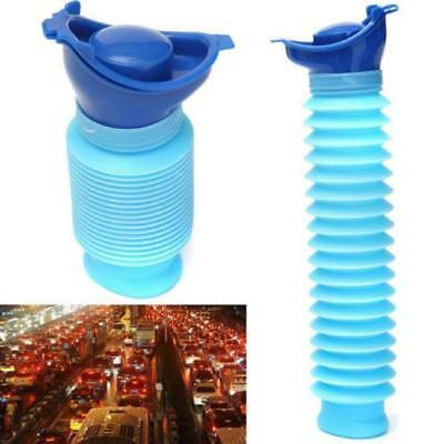 750ML Portable Kids Urinal Travel Camping Car Toilet Potty Pee Bottle Blue DD
