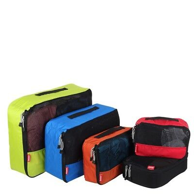 NEW Travel Packing Cubes 4 pc Set Top Selling Luggage Organisers Storage Bags