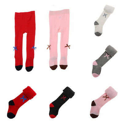 Baby Girls Toddler Kids Bow Cotton Warm Tights Stockings Pantyhose Pants Socks