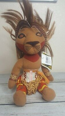 """The Lion King The Broadway Musical Simba Soft Plush Toy 10"""" Tall NEW with tags!"""