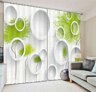 An Abstract Tree 3D Curtain Blockout Photo Printing Curtains Drape Fabric