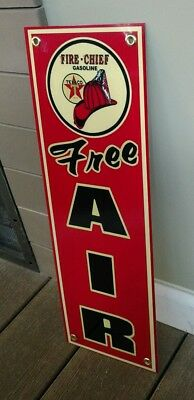 Texaco Fire Chief free air sign ... Gas Oil Gasoline