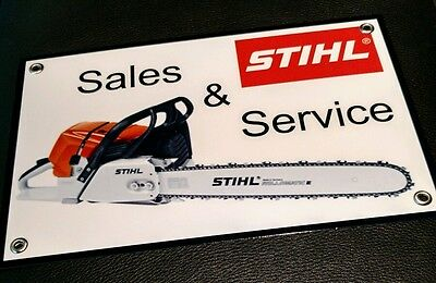 "Stihl chainsaw sign ... Large 11"" x 17"""