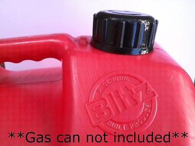 Blitz Gas Can Cap transportation & storage closed screw cap w Viton Gasket SOLID