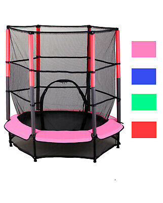 Trampolin Set 140cm mit Sicherheitsnetz Indoor Outdor Kinder Gartentrampolin