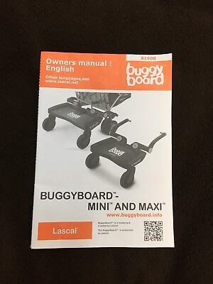 Lascal Buggy Board Maxi And Mini Manual ONLY