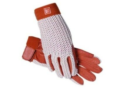 (8, Natural/Natural) - SSG Lycrochet Ultraflex Gloves. Delivery is Free