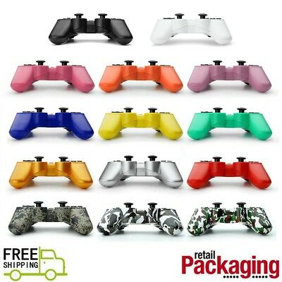 NEW Wireless Controller For PS3 Bluetooth Joypad With Cable Multiple Colors