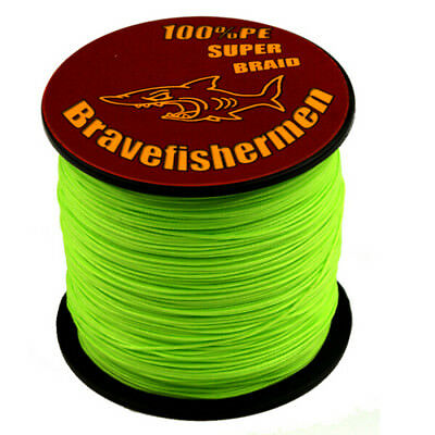 Spectra Fluorescent Green Strong 100%PE Dyneema Braided Fishing Line 100-1000M