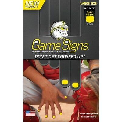 Game Signs Catcher Signal Enhancement Stickers, Large, Optic Yellow. Best Price