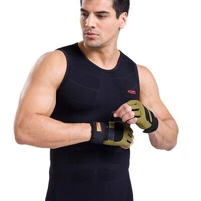 (Large, Armygreen) - Nitree Cycling Gloves Breathable Half Finger Bicycle