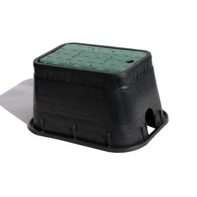 NDS H Rectangular Irrigation Valve Box Plastic Standard Black Green Polyolefin