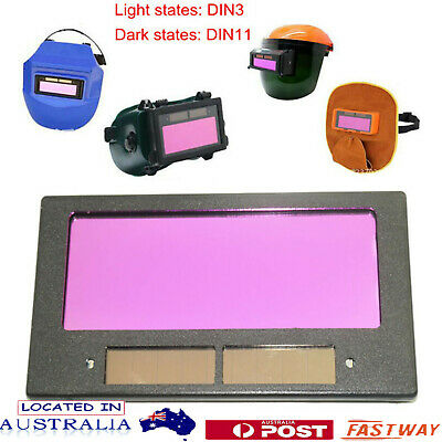 Pro Solar Panel Auto Darkening Welding Helmet Mask Lens Filter Tool Part Safety