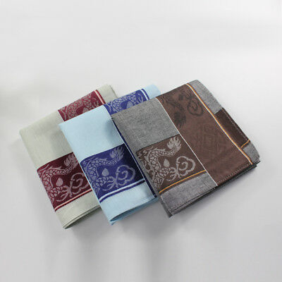 Mens HANDKERCHIEFS Chinese Style Cotton Pocket Square Hanky Handkerchief