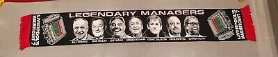 Liverpool Scarf - The Magnificent Seven - Legendary Managers - Black