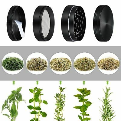 4 Piece 2 Inch Black Tobacco Crusher Spice Herb Grinder Spice Herbal Zinc Alloy