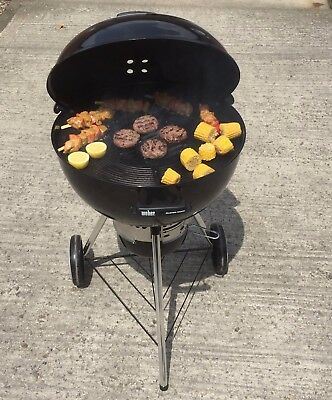 Cast Iron Cooking Grate Grill fits 57cm Weber Kettle Bbq - Hellfire HALO Lrg GSP