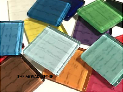 Mixed Handmade Glass Tiles 2.5cm Textured Look - Mosaic Tiles Supplies Art Craft