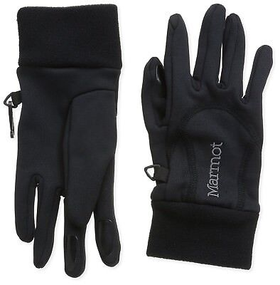 (X-Small, Black) - Marmot Women's Power Stretch Gloves. Delivery is Free