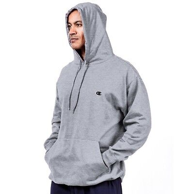 (4X Tall, Heather Grey) - Champion Big and Tall Fleece Pullover Hoodie