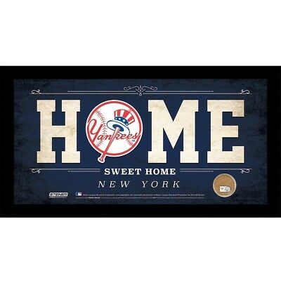 (New York Yankees) - MLB 6x12 Home Sweet Home Sign with Game-Used Dirt