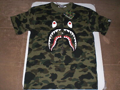 fd653cdbb10f Authentic A Bathing APE BAPE 1ST CAMO SHARK TEE T SHIRT GREEN XL 2XL NEW  RARE